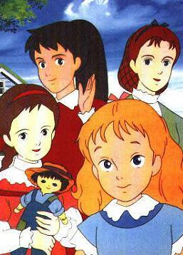 Dessin animé 4 personnages