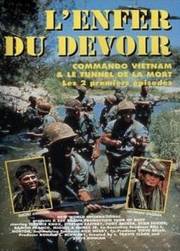 """L'Enfer du devoir (1987) : """"1967 : la guerre du Vietnam bat son plein.  L'armée américaine subit de nombreuses pertes humaines et matérielles.  Sur la base de Ladybird, le sergent Zek Anderson et tous les soldats qui forment la compagnie Bravo sont les témoins,  en première ligne, des combats contre les Viêt-cong. De la ligne de front aux missions périlleuses,  ces militaires sont confrontés à la réalité de la guerre, entre racisme, vengeance, respect et amitiés ... """" ----- ... Origine de la série : Américaine Titre original : TOUR OF DUTY Créateurs : Steve Duncan, L. Travis Clark Statut : Achevée (3 saisons - 58 épisodes) Acteurs : Terence Knox, Stephen Caffrey, Tony Becker Genre : Drame, Guerre Année de création : 1987 / 1990 Durée : 47 minutes/épisode"""